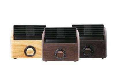 迷你风扇办公室空调桌面小风扇木纹风扇