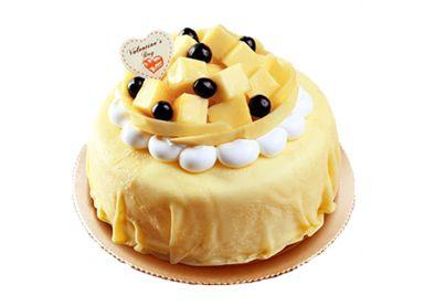 现做新鲜榴莲千层芒果生日蛋糕